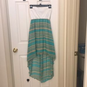 Dress- teal / tan